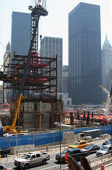Under Construction, Steel, Structure, Site, City, Urban