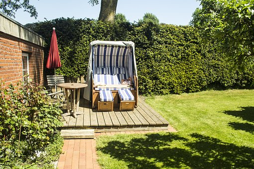 Garden, Summer, Beach Chair, Holiday, Wind Protection