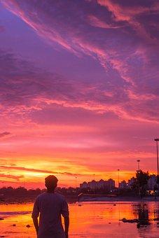 Sunset, Sky, Sunrise, Nature, Sun, Landscape, Cloud