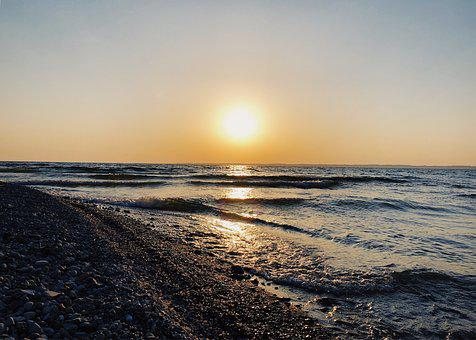 Sunrise, Morning, Lake, Waterfront, Sun, Sky