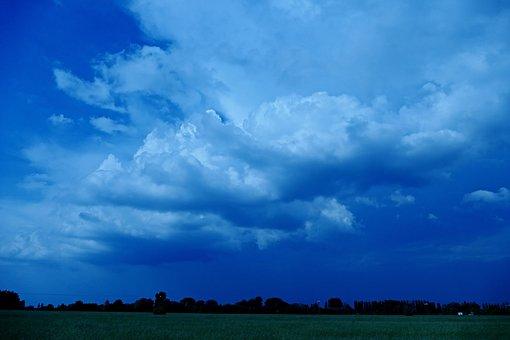 The Clouds, Clouds, The Sky, Storm, Dark Blue, Sky