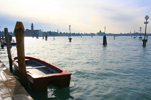Boat, Venice, Venice Italy, Europe, Italy, Canal