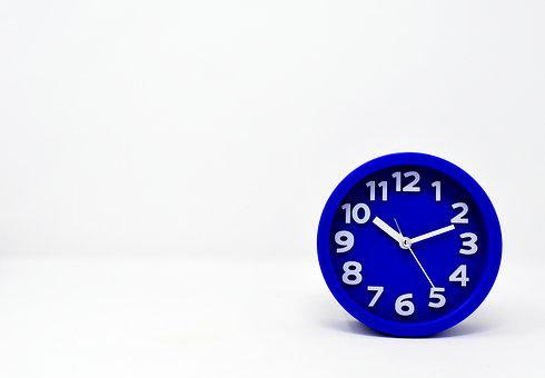 Clock, Alarm Clock, Blue, Time Of, Time Indicating