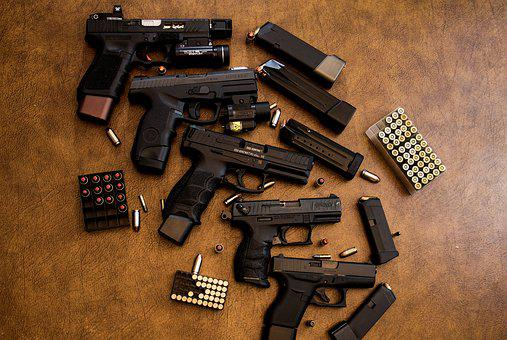 Weapons, Guns, Ammunition, Pistol, Handgun, Security