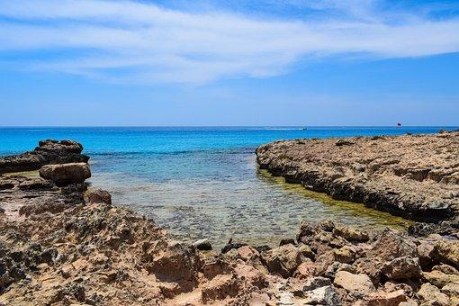 Rocky Coast, Beach, Sea, Blue, Landscape, Bay, Island