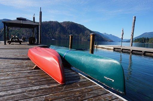 Canoe, Summer, Lake