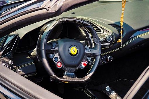 Auto, Sports Car, Luxury, Ferrari, Cockpit