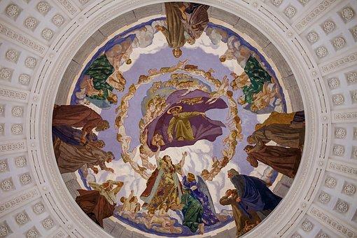 Fresco, Cover Painting, Dom, Saint Blaise, Painting