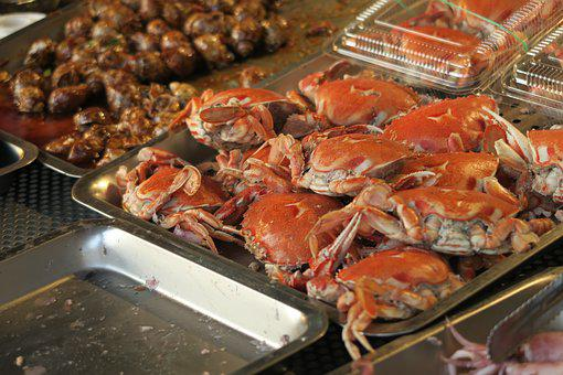 Crab, Barbecue, Seafood, Snack