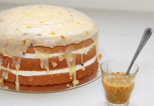 Cake, Passionfruit, Dessert, Sweet, Fruit, Cafe, Bakery
