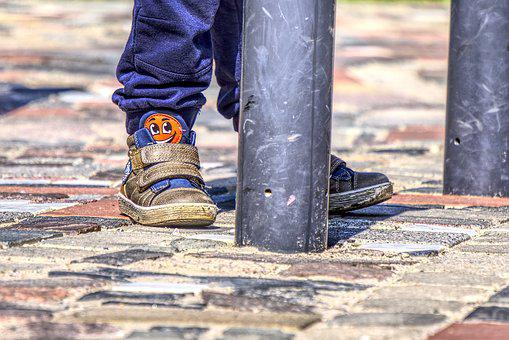 Child's, Feet, Small Child, Shoes, Children's Shoes
