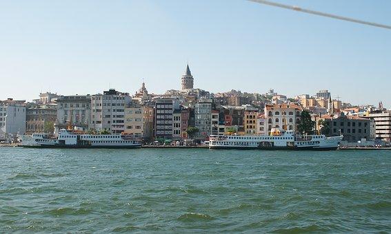 Ferry, Bosphorus, Sea, Turkey, Istanbul