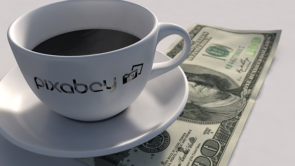 Dollar, Coffee, Mug, Cup, Finance, Cash, Drink, Cafe