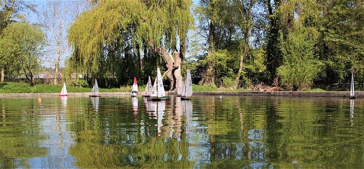 Model Boats, Sailing, Yacht, Water, People, Fun