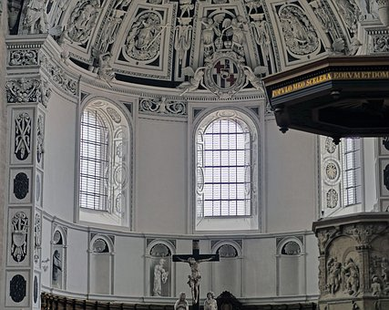 Trier, Dom, West Choir, Half Round, Stucco, Relief