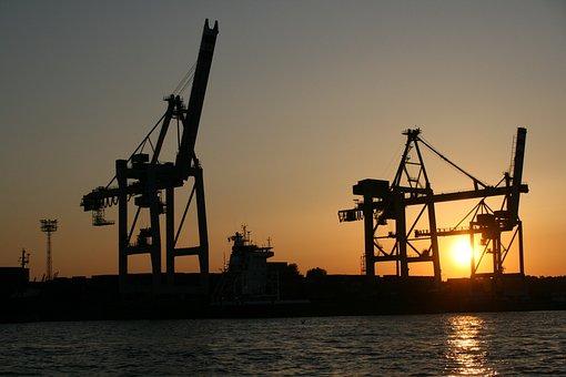 Hamburg, Port, Hamburg Port, Water, Port City