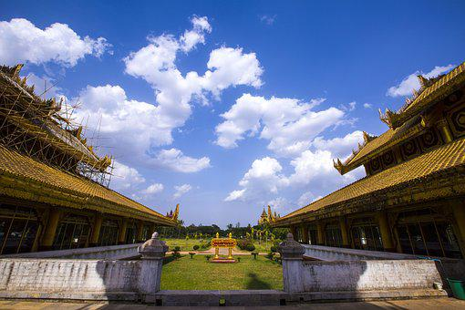 Landmark, Myanmar, Asia, Travel, Golden, Old, Buddha