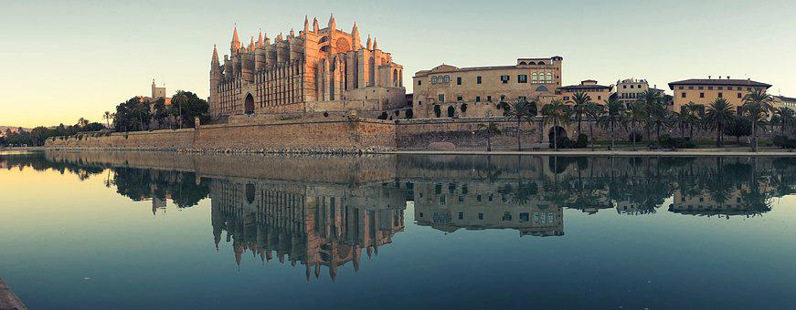 Mallorca, Cathedral, Palma, Landscape, Church