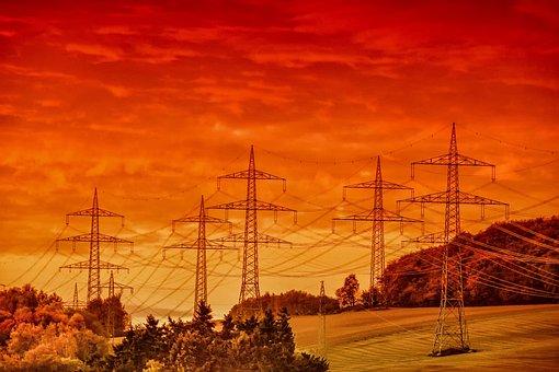 Landscape, Nature, Mood, Electricity, Heat, Sunset