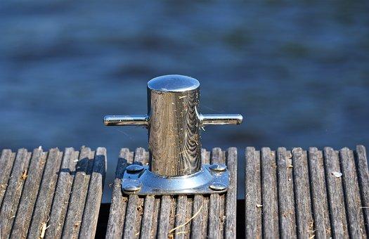 Bollard, Mooring, Mooring Bollard, Water, Boat, Ship
