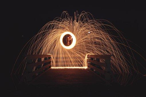 Steel Wool, Photography, Light, Night, Steel, Wool
