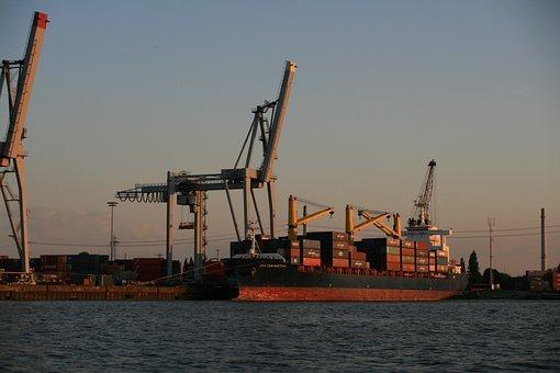 Port Of Hamburg, Container, Cranes, Port, Hamburg