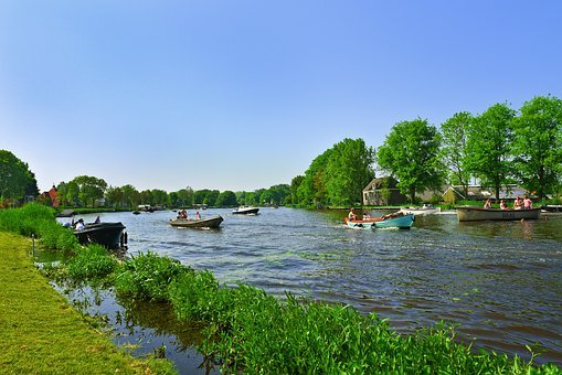 River, Water, Boat, Recreation, Boating