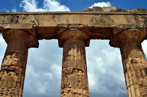 Temple, Columnar, Antique, Ruin, Destroyed