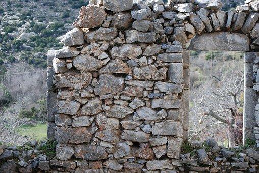 Ruins, Mani, Greece, Messinia, Messinian Mani, Stone