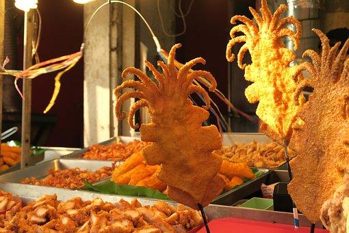 Fried, Deep-fried, Squid, Seafood