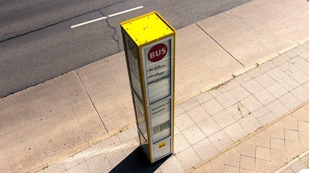 Stop, Bus Stop, Wait, Public Personennahverkehr, City
