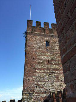 Torre, Castle, Sky, Fortification, Walls, Middle Ages