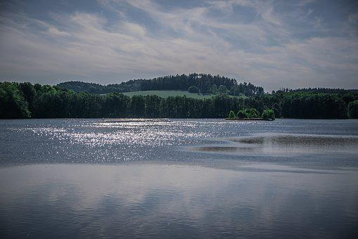 Water-level, Landscape, Clouds, Water, Reflection