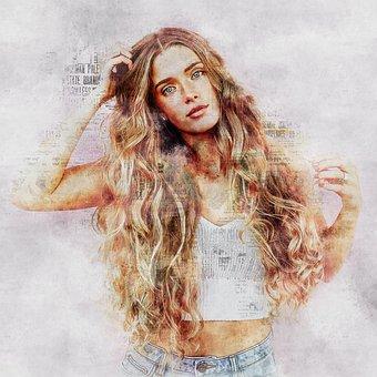 Young, Beautiful, Woman, Female, Girl, Portrait