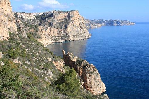 Spain, Rocky Coast, Mediterranean, Rock, Coast, Booked