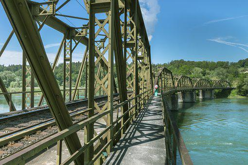 Railway Bridge, Old Bridge, Trail, Bridge, Metal Bridge