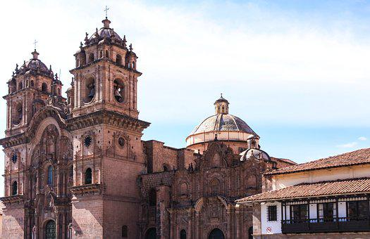 Cusco, Plaza Del Armas, Peru, Steeple, Church
