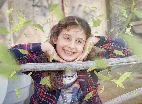 Little Girl, Girl, Colors, Smile, Eye, Face, Nose
