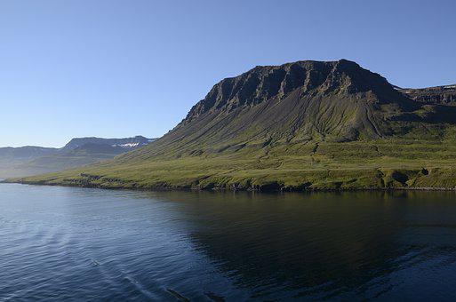 Iceland, Seydisfjordur, Volvanic Island, Landscape