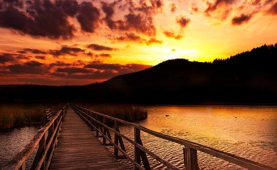 Sunrise, Nature, Landscape, Mood, Back Light, Sun