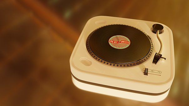 Turntable, 60s, Old, Record, Nostalgia, Background, 3d