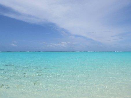 Holidays, Reef, Paradise, Lazur, Blue, Maldives, Sky