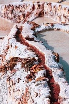 Salt Pan, Maras, Salt Mining, Peru, Running Water