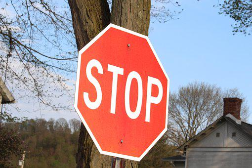Sign, Stop, Stop Sign, Traffic, Red, Symbol, Warning