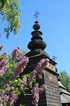 Lilac, Church, Religion, Spring, Lilac Flowers, Flowers