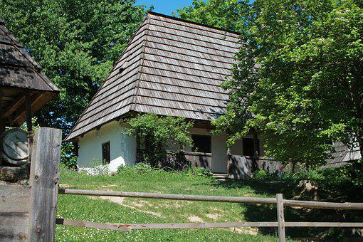Rural Hut, Ukrainian Hata, Village, Cottage, Ukraine