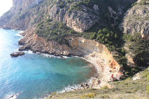 Coast, Spain, Trail, Smuggler's Trail, Sea, Rock