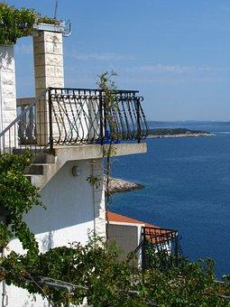 Relaxing, Sea, Holiday Home, Balcony, Croatia, Sevid