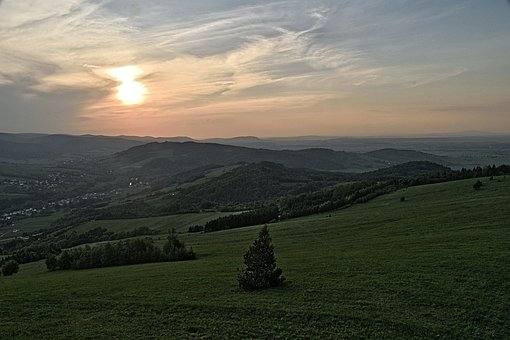 Sunset, Mountains, Sky, Clouds, Landscape, View, Nature