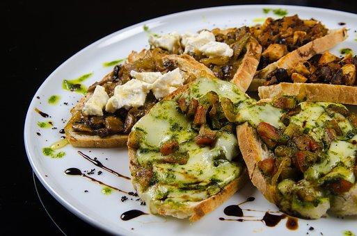 Brusquetas, Slices Of Bread, Slices, Gastronomy, Bread